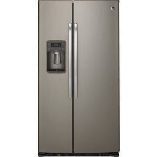 GE Profile Series Grey Stainless 21.9 cu.ft. Side-By-Side Refrigerator
