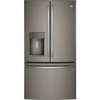 Ge Energy Star Slate Grey 27 8 Cubic Foot French Door Refrigerator