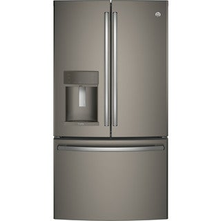 GE Profile Series Energy Star Grey 27.8 cu.ft. French-Door Refrigerator with Hands-Free Autofill