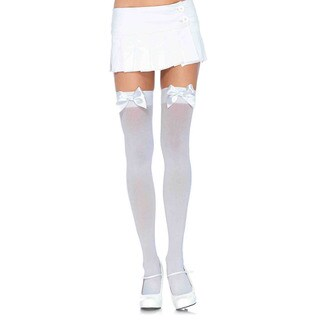 Leg Avenue Women's Plus Size Nylon Over The Knee With Bow Hosiery