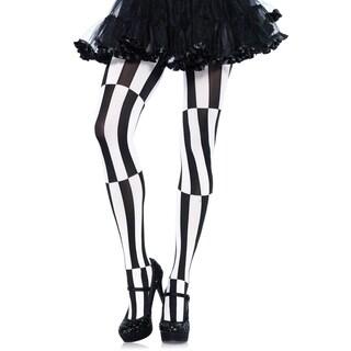 Leg Avenue Women's Plus Size Woven Opaque Striped Optical Illusion Pantyhose