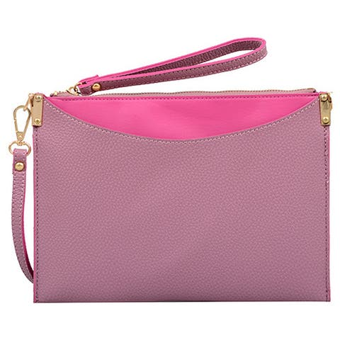 Mellow World Margie Small Mauve Clutch Handbag