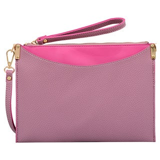 Mellow World Margie Small Mauve Clutch Handbag