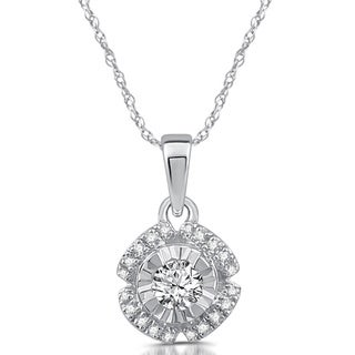 1/5 CTTW Diamond Solitaire Pendant in 10k White Gold (I/J-I2)