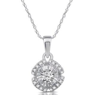 1/5 CTTW Diamond Solitaire Pendant in 10k White Gold
