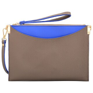 Mellow World Margie Mochacolored Faux-leather Small Crossbody Clutch Handbag