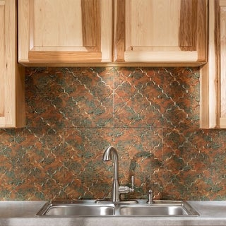 Fasade Monaco Copper Fantasy 18-square Foot Backsplash Kit