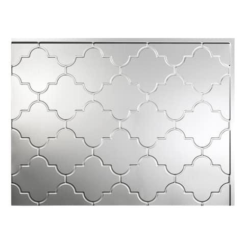Fasade Monaco Brushed Aluminum 18-square Foot Backsplash Kit
