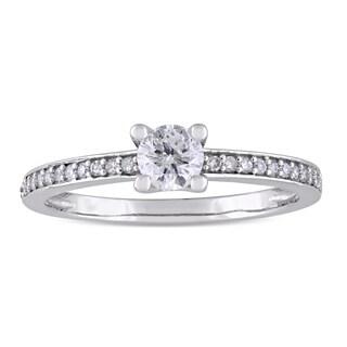 Miadora Signature Collection 10k White Gold 1/2ct TDW Diamond Engagement Ring