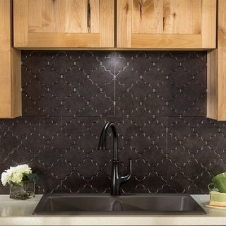 Fasade Monaco Smoked Pewter Backsplash Panel