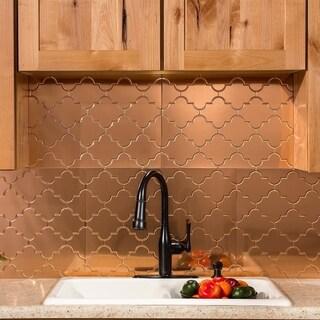 Fasade Monaco Polished Copper Backsplash Panel