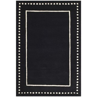 Safavieh Bella Contemporary Handmade Black / Ivory Wool Rug (4' x 6')