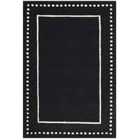 Safavieh Bella Contemporary Handmade Black / Ivory Wool Rug - 4' x 6'