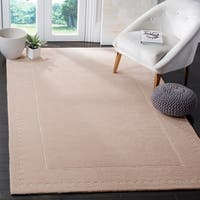 Safavieh Bella Contemporary Handmade Light Pink / Ivory Wool Rug - 4' x 6'
