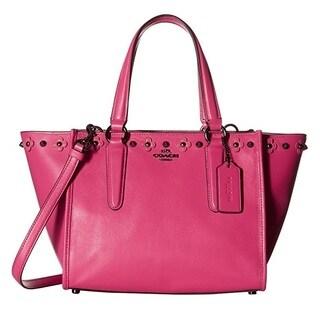 Coach Floral Rivets Detail Mini Crosby DK/Dahlia Satchel Handbag