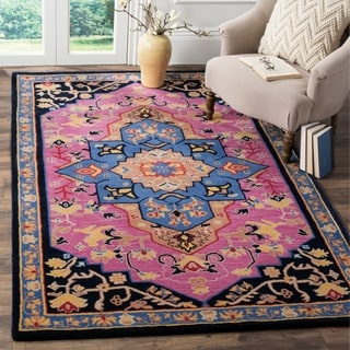 Safavieh Bellagio Hand-Woven Wool Pink / Multi Area Rug (4' x 6')