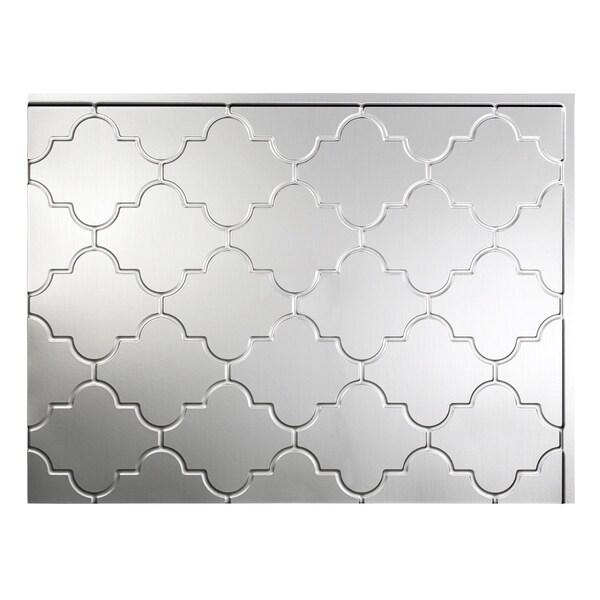 Fasade Monaco Brushed Aluminum Backsplash Panel