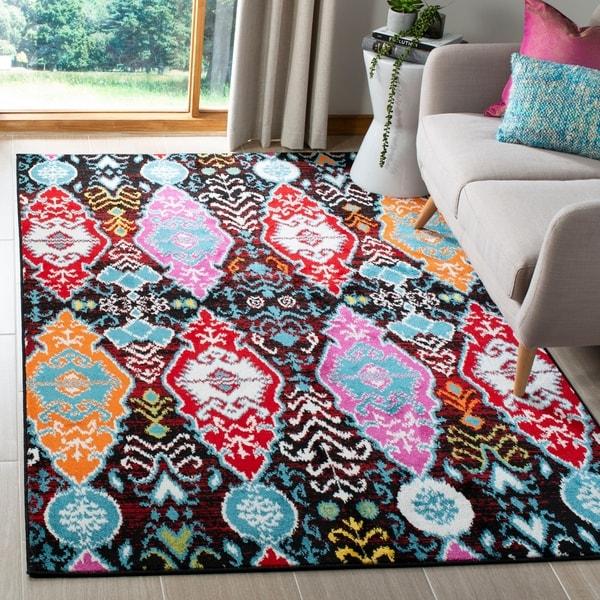 Shop Safavieh Cherokee Bohemian Ikat Black Red Area Rug 4 X 6