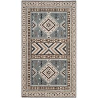 Safavieh Classic Southwestern Bohemian Slate/ Beige Cotton Rug - 3' x 5'