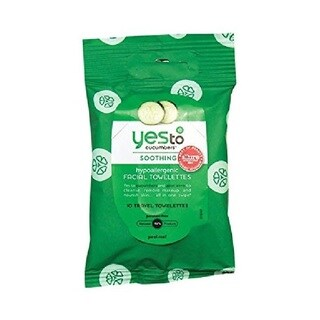 Yes To Cucumbers Soothing Hypoallergenic 10-count Facial Wipes