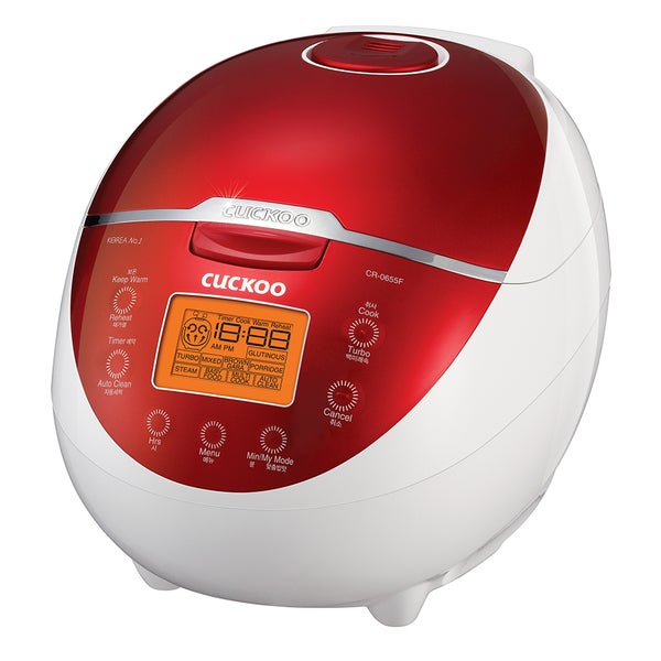 Cuckoo CR-0655F 6-cup Electric Heating Rice Cooker. Opens flyout.
