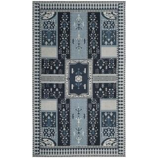 Safavieh Classic Vintage Boho Tomasa Oriental Cotton Rug (67 x 92 - Navy/Light Blue)