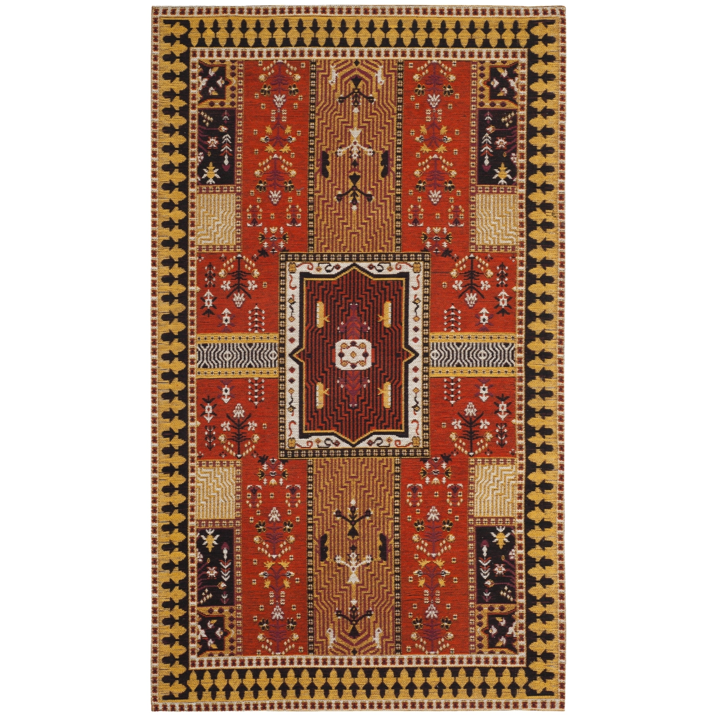 Safavieh Classic Vintage Bohemian Orange/ Gold Cotton Rug...
