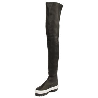 Givenchy Street Over-the-Knee Platform Sneakerboots in Black w/ Black Heel