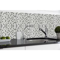Magic Gel Silver Glass 9.125x9.125 Self Adhesive Vinyl Wall Tile - 3 Tiles/2.25 sq Ft.