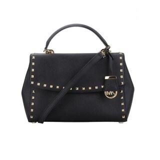 Michael Kors Ava Stud Black Crossbody Handbag