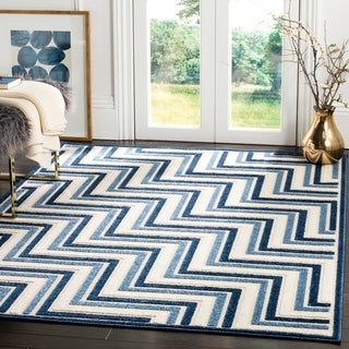 Safavieh Cottage Cream / Blue Area Rug (4' x 6')