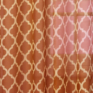 Window Elements Quatrefoil 96-inch Printed Sheer Extra-wide Grommet Curtain Panel
