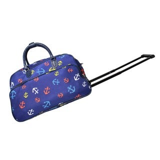 World Traveler Pacific Anchor Blue 21-Inch Carry-On Rolling Duffel Bag