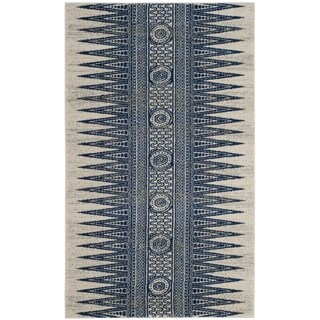 Safavieh Evoke Vintage Boho Chic Ivory / Blue Distressed Rug (3' x 5')