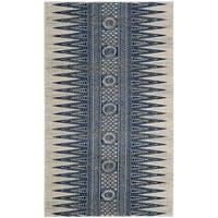 Safavieh Evoke Vintage Boho Chic Ivory / Blue Distressed Rug - 3' x 5'