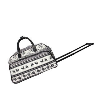 World Traveler Winter Deer 21-Inch Carry-On Rolling Duffel Bag