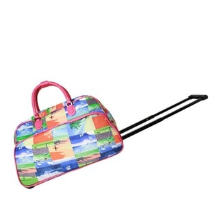 World Traveler Summer Surf 21-Inch Carry-On Rolling Duffel Bag
