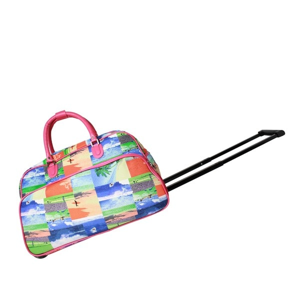 e891f745bbb3 Shop World Traveler Summer Surf 21-Inch Carry-On Rolling Duffel Bag - Free  Shipping Today - Overstock.com - 14192234