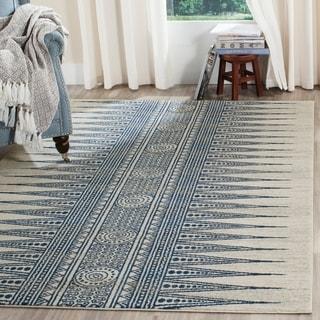 Safavieh Evoke Boho Chic Ivory / Blue Area Rug (4' x 6')