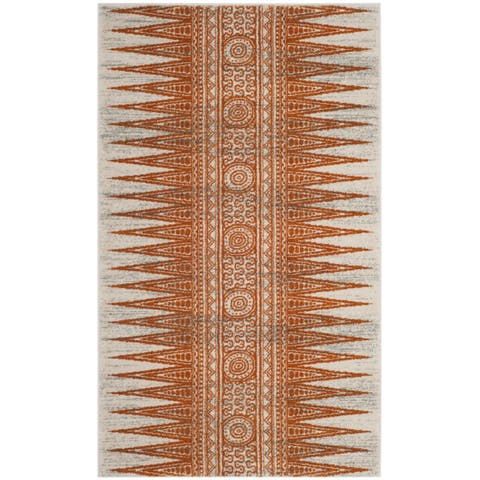 Safavieh Evoke Vintage Boho Chic Ivory / Orange Distressed Rug - 3' x 5'