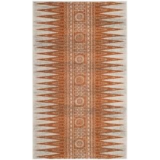 Safavieh Evoke Vintage Boho Chic Ivory / Orange Distressed Rug - 3' x 5'