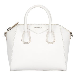 Givenchy Antigona Sugar Goatskin Small White & SIlver Hardware Satchel Handbag