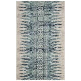 Safavieh Evoke Ivory / Turquoise Area Rug (3' x 5')