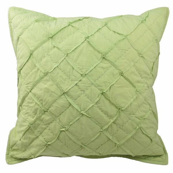 Blissliving Home Tanzania Nalisha Green Cotton Euro Sham