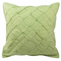 Blissliving Home Tanzania Nalisha Green Cotton Euro Sham