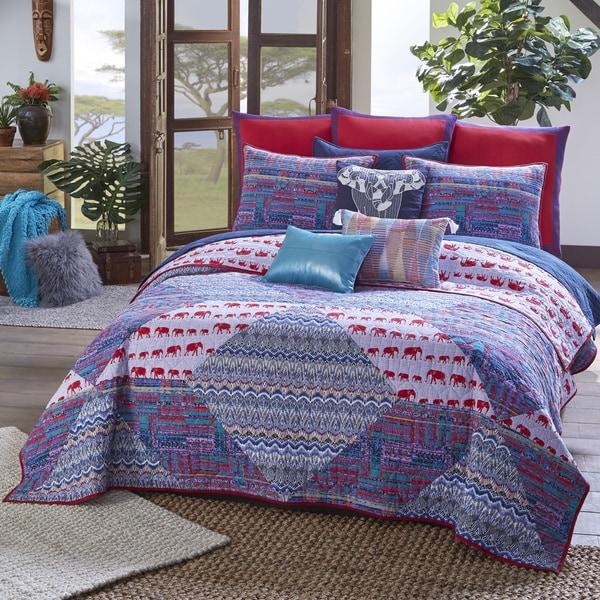 Blissliving Home Tanzania Kambiya 100% Cotton 3 Piece Quilt
