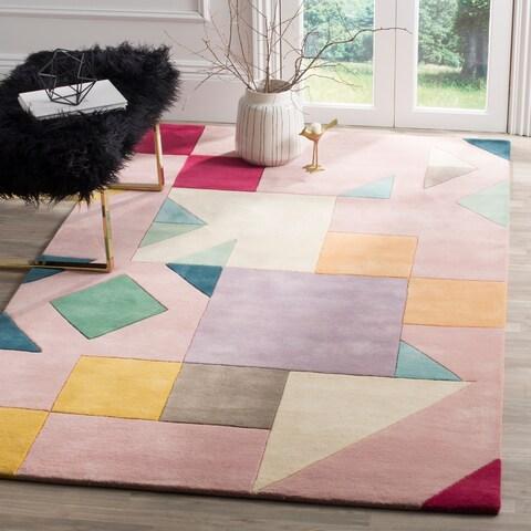 Safavieh Fifth Avenue Hand-Woven New Zealand Wool Pink / Multi Area Rug - 4' x 6'
