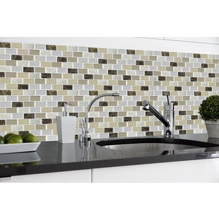 Achim Magic Gel Bronze Granite Vinyl Self-adhesive Wall Tile