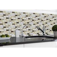 Magic Gel Bronze Granite 9.125x9.125 Self Adhesive Vinyl Wall Tile - 3 Tiles/2.25 sq Ft.