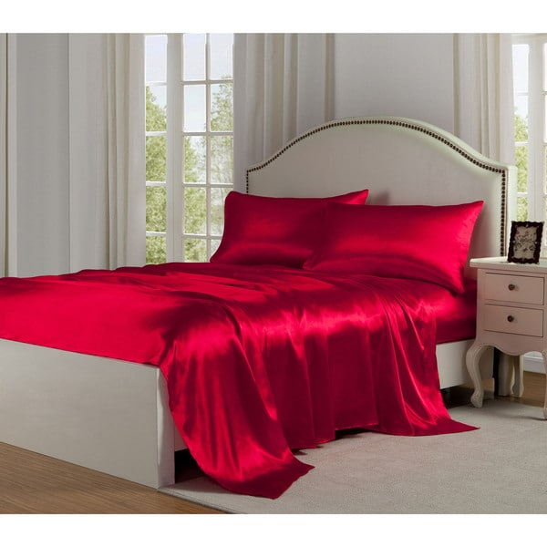 Charmeuse Satin Bed Sheet Set. Opens flyout.